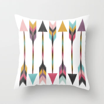 Bohemian Arrows Throw Pillow by Bohemian Gypsy Jane
