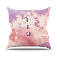 "Iris Lehnhardt ""Seize the Day"" Pink Purple Throw Pillow"