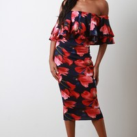 Ruffle Floral Bloom Dress
