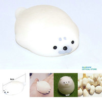 Seal Lions Mochi Squishy Cute Phone Straps Slow Rising Soft Press Doll Squeeze Kawaii Pendant Bread Cake Kids Toy Xmas Gift