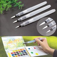 12cm Water Brush Pen 3PCS Refillable Water Brush Ink Pen for Water Color Calligraphy Painting Illustration Pen Office Stationery