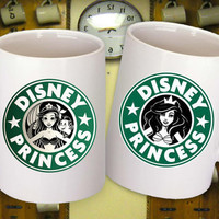 Disney Princess Starbucks Mug Ariel Little Mermaid, MJM, custom personalized mug, select A or B, and A+B if you buy couple