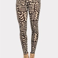 Cabana Print Legging - Taupe at Necessary Clothing