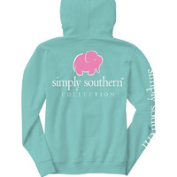 "Simply Southern ""Elephant Logo"" Hooded Long Sleeve"