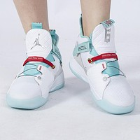 Bunchsun NIKE Air Jordan XXXIII AJ33 Men Women Casual Sport Basketball Shoes Sneakers White&Green