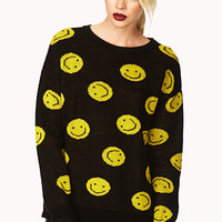 Statement Happy Face Sweater