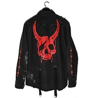 Gothic Hunter Skull Black Demon Jacket