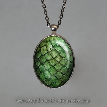 Game of Thrones Dragon Egg Jewelry, Daenerys Targaryen Dragons Necklace, game of thrones jewelry, Green Dragon Egg Necklace, Dragon, Geekery