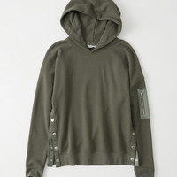 Womens Snap Button Hoodie | Womens Tops | Abercrombie.com