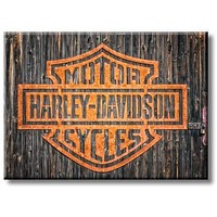 Harley Davidson Motorcycles Picture on Stretched Canvas, Wall Art Décor, Ready to Hang