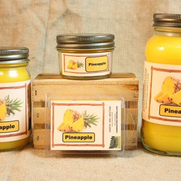 Pineapple Scent Candles and Wax Melts, Fruit Scent Candle Wax, Highly Scented Candles and Wax Tarts, Summer Scent Candle, Housewarming Gift