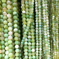 light green banded agate gemstone - agate stone round beads - mint green jewelry beads - beading supplies online  - green beads -15inch