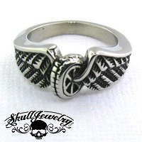 """Hell On Wheels"" Stainless Steel Ring (478)"