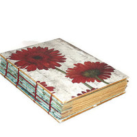 Red Gerber Daisy Guest Book, Journal, Art Book, Sketchbook, Design Book