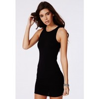 Missguided - Alison Racer Bodycon Dress Black