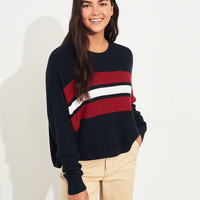Girls Crewneck Sweater | Girls Tops | HollisterCo.com