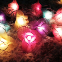 20x Sweet Color Orchid Flower String Lights Wedding Party Floral Home Decor