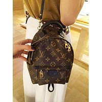 LV Louis Vuitton Hot Sale Woman Men Leather Travel Bookbag Shoulder Bag Backpack