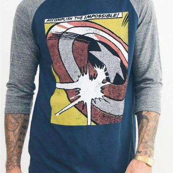 Junk Food Mens Captain America Raglan Shirt