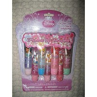 Disney Princess of The Week 7 Fruity Lip Gloss Tubes by Disney-Brand New in Pkg