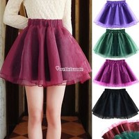 Green Tutu Skirt Dance Party Dress Girl Adult Women Lady FULL Mini Pettiskirt