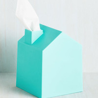Quirky Nose Place Like Home Tissue Holder in Blue by ModCloth