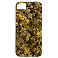Fractal Art Fabric. Tiger, Abstract Design. Awsome iPhone 5 Cases from Zazzle.com