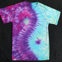 Yin Yang Tie Dye Shirt, Adult - Pink/Purple/Blue/Green