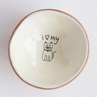 I Love My Cat Tiny Trinket Dish