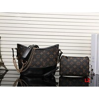 LV Women Shopping Leather Metal Chain Crossbody Satchel Shoulder Bag Two piece H-MYJSY-BB Tagre™