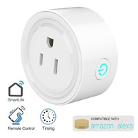 Smart Plug, Mini Outlet Plug Wifi Socket with Timing Function, No Hub Required, Remote Control Devices from Anywhere, Compatible with Alexa, Kids Room Assistant by Kulussy (White)