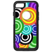 DistinctInk™ OtterBox Commuter Series Case for Apple iPhone or Samsung Galaxy - Multi Color Swirls