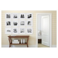 """12 Piece 12X12 White Frame Kit, Matted To 8""""X8"""" - Gallery Perfect"""