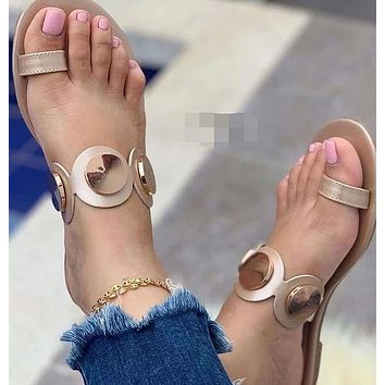 New fashion sandals and slippers women sandals outside on the beach