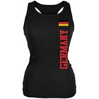World Cup Germany Black Juniors Soft Tank Top