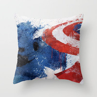 Captain America Throw Pillow by Melissa Smith | Society6