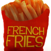 French Fries Fast Food Pillow Realistic Looking Sweet Dreams Pillows Soft Plush
