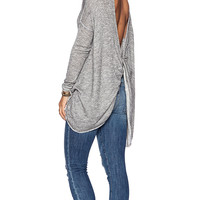 Free People Chasing You Top in Gray