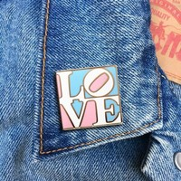 Trans LOVE -- Enamel Pin