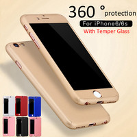 Full Body iPhone Protection Case +Tempered Glass Screen Protector