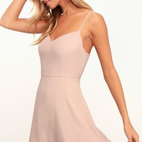 Dancing With You Blush Skater Dress