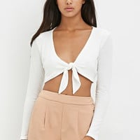 Knotted-Front Crop Top