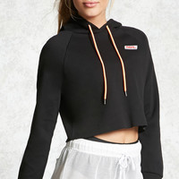 Active Graphic Cropped Hoodie