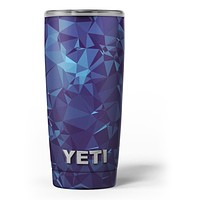 Royal Blue Abstract Geometric Shapes - Skin Decal Vinyl Wrap Kit compatible with the Yeti Rambler Cooler Tumbler Cups