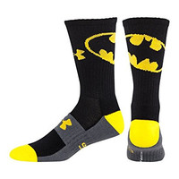 Under Armour Men's Alter Ego Batman Socks Large Black
