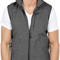LE3NO Mens Full Zip Up Polar Fleece Vest Jacket (CLEARANCE)