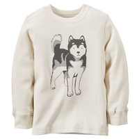 Carter's Wolf Thermal Tee - Toddler Boy, Size: