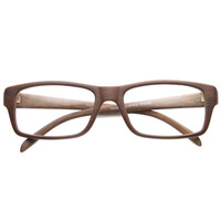 Dapper Indie Rectangle RX Optical Clear Lens Glasses 9899