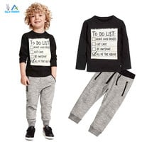 AiLe Rabbit 2017 New  spring Autumn Baby boy clothes  2pcs Toddler Kids Baby Boy T-shirt Tops+Pants Trousers  Outfit Clothes Set