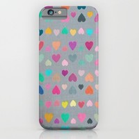 Happy Hearts iPhone & iPod Case by Micklyn